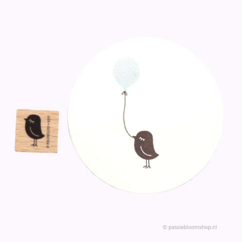 Stempel Hout   Vogeltje