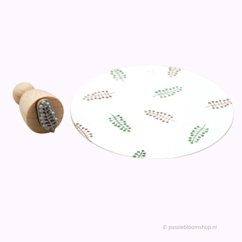 Klein varenblad stempeltje | M |