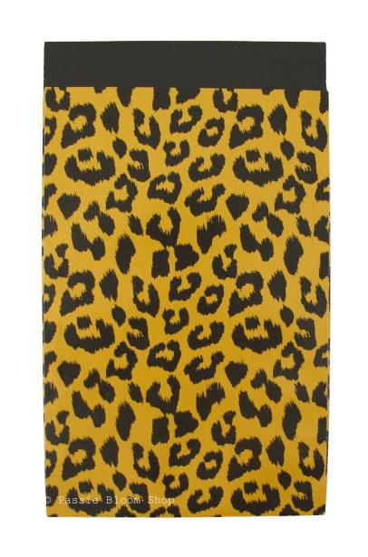 Cadeauzakjes panter print okergeel 12x19