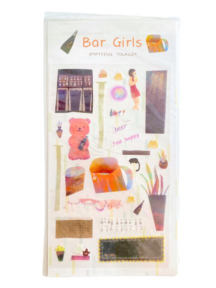 Stickers bar girls