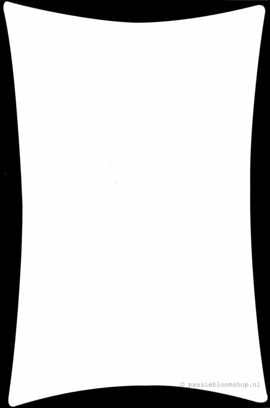 Blanco kaart met  zwarte rand A6