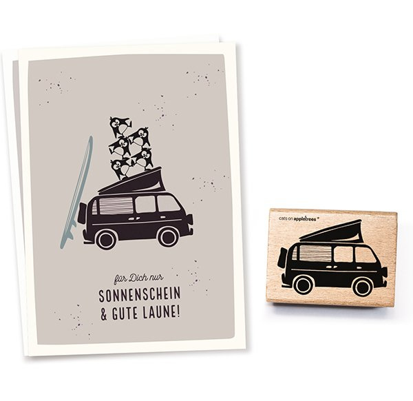 Stempel volkswagen camper busje