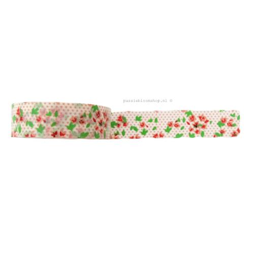 Washi tape | rode bloemetjes