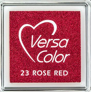 Versacolor |  23 ROSE RED  | Rood stempelkussen