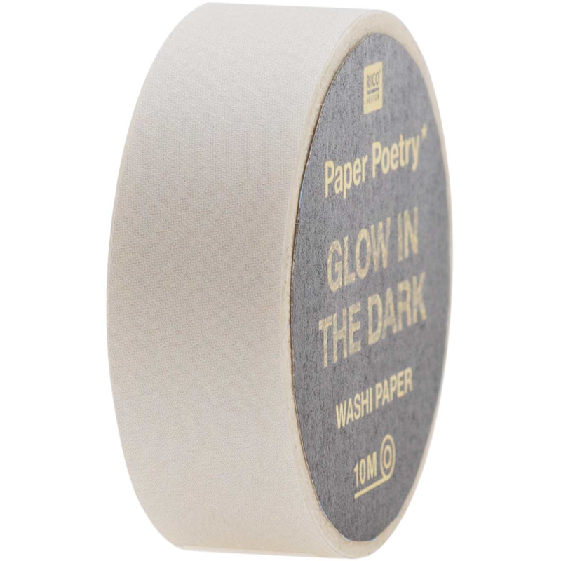Washi tape | GLOW IN THE DARK | Wit/transparant