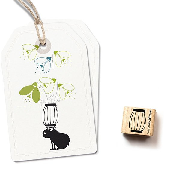 Stempel vaas klein | Cats on appletrees | 27221