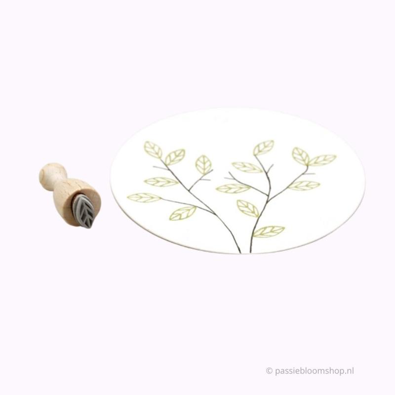 Klein blad stempeltje | S |