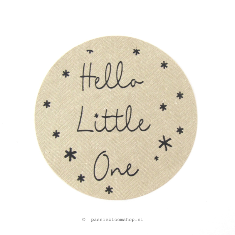 Sluitstickers rond Little one Kraft