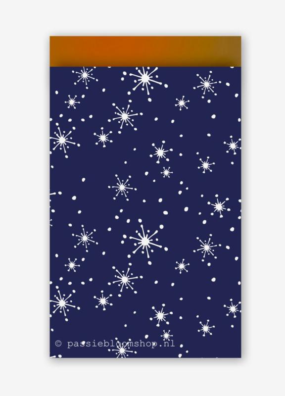Cadeauzakjes blauw sneeuwvlok
