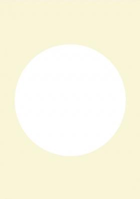 DIY blanco kaart pastel geel