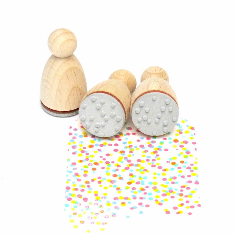 Mini stempel M | STIPPEN | Confetti
