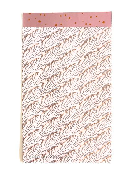 Cadeauzakje wit roze veren 12x19