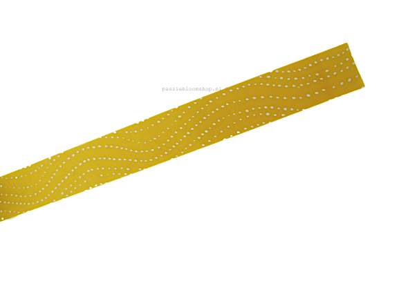 Washi tape okergele stippen waves