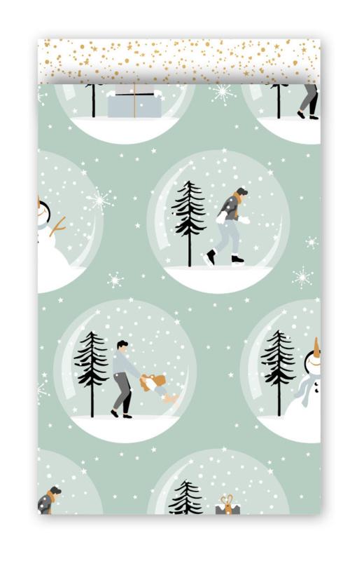 Cadeauzakjes spelen in de sneeuw winter 12x19