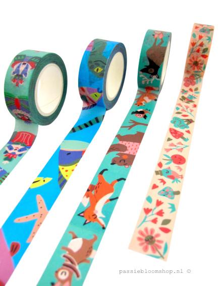 Washi tape pastel vogeltje | Marijke Buurlage