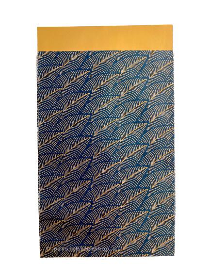 Cadeauzakje blauw gouden veren 12x19