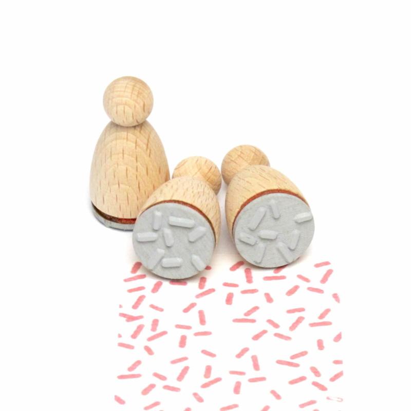 Mini stempel M | STREEPJES | Straciatella hagelslag confetti