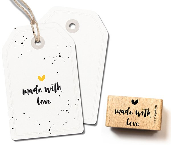 Tekst stempel hout | Made with love