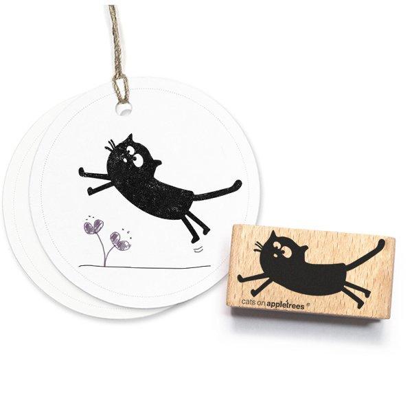 Stempel springende kat