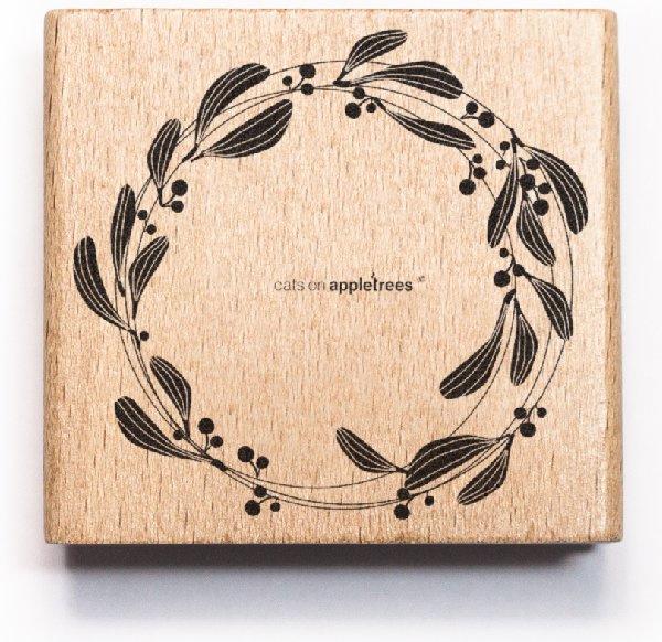 Stempel mistletoe krans