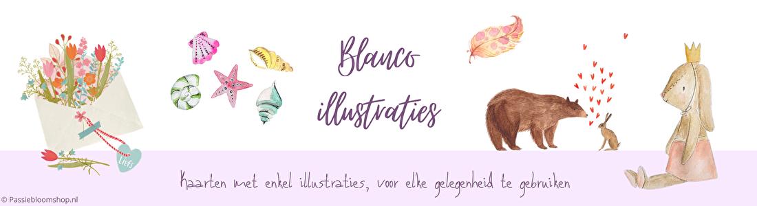 Blanco illustraties op kaarten