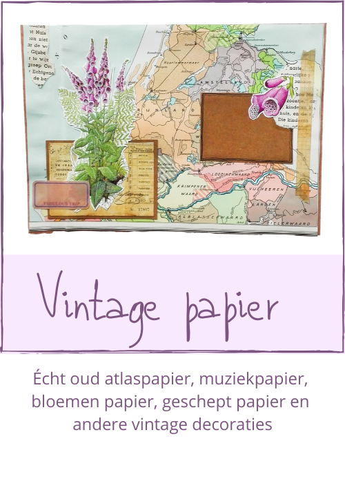 Vintage papier decoratie