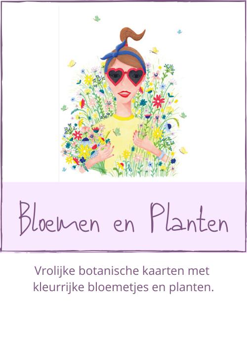 Kaarten met bloemen en planten