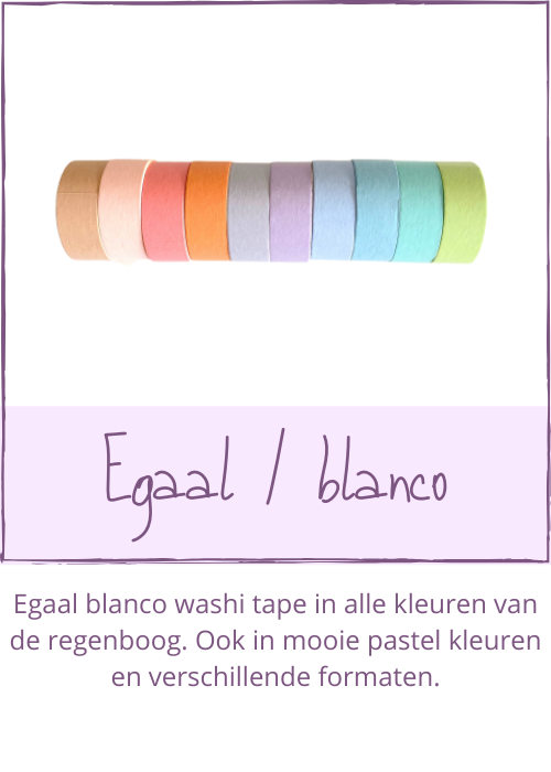 Egaal blanco washi tape 1 kleur