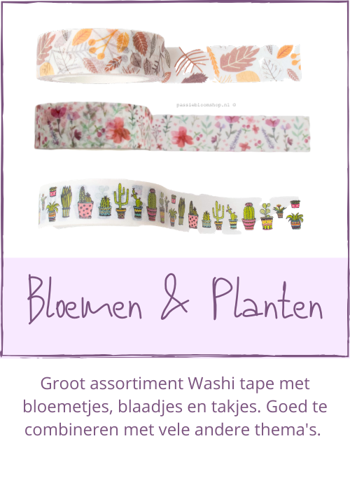 Washi tape bloemen