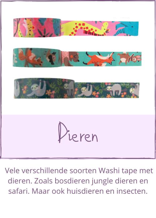 Washi tape dieren