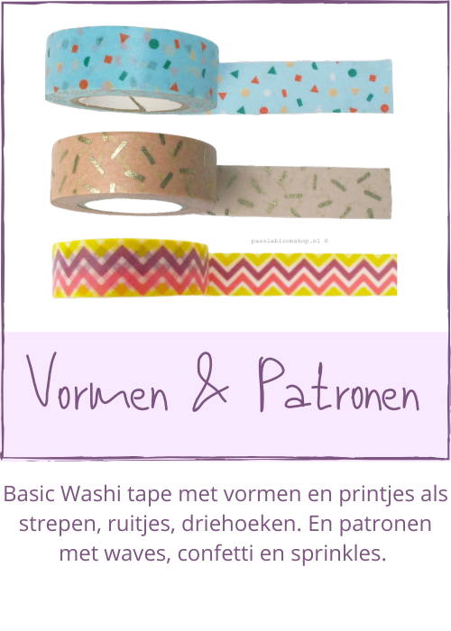 Washi tape patroon