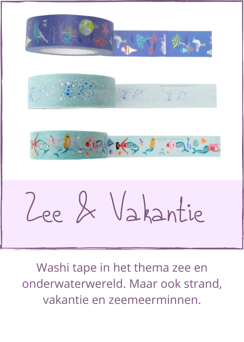 Washi tape zee thema travel