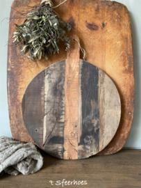 oud houten broodplank rond
