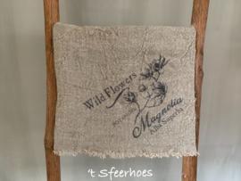 linnen shabby doek: magnolia (45x45 cm)