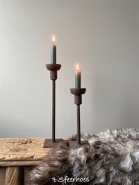 Ijzeren tafelkandelaar roest Beau van Puur Wonen, 30 cm