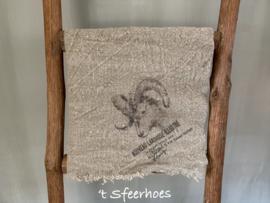 linnen shabby doek: ram (45x45 cm)