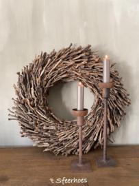 krans wreath half Botay brown, doorsnede 40 cm
