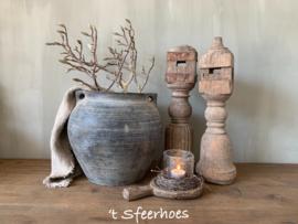 authentieke oud doorleefde houten baluster
