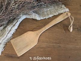 oud houten spatel aan touw