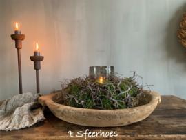 krans/nest van mos en bonsai takjes, doorsnede 30 cm