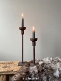 Ijzeren tafelkandelaar roest Beau van Puur Wonen, 20 cm