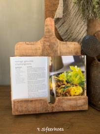 houten kookboekstandaard