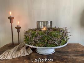 krans/nest van mos en bonsai takjes, doorsnede 45 cm