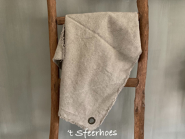 linnen raw doek met zeiloog (70x70 cm)