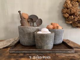 oud stenen pot, maat S