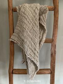 linnen chippy doek: onbedrukt (100x100 cm)