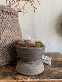grote authentieke oud houten kandelaar