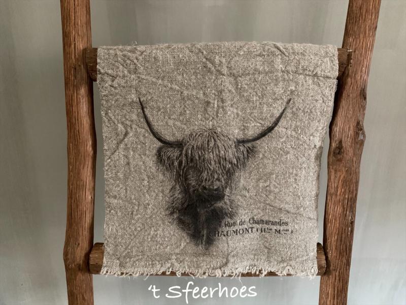 linnen shabby doek: hooglander (30x45 cm)