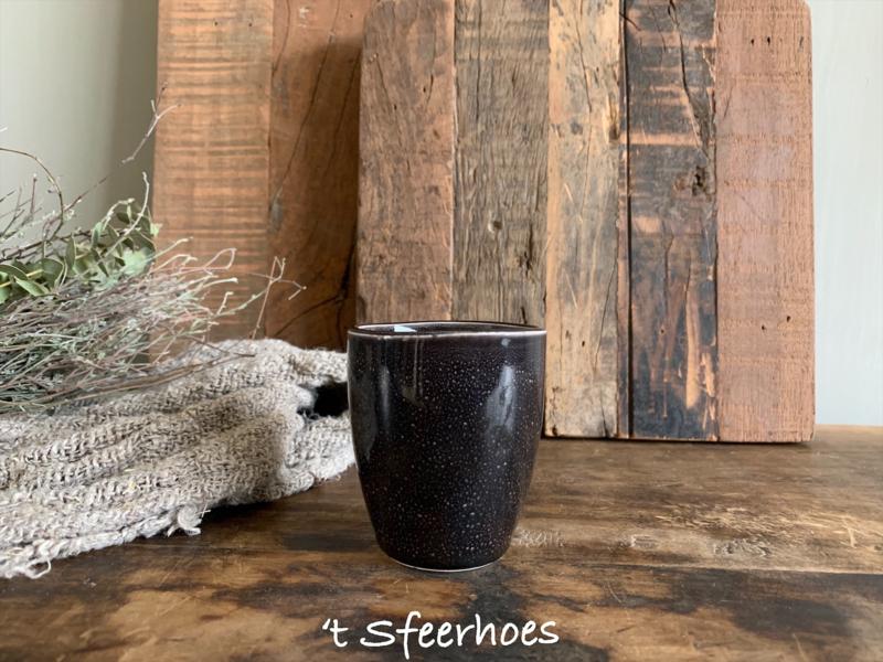 espresso mokje zonder oor, bruin/zwart