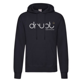 Drupt hoodie Black fade logo white
